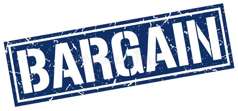 Bargain stamp. Bargain square grunge sign isolated on white. bargain vector illustration