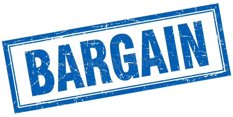 Bargain stamp. Bargain square grunge stamp. bargain sign. bargain stock illustration