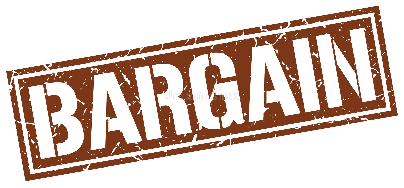 Bargain stamp. Bargain square grunge sign isolated on white. bargain stock illustration