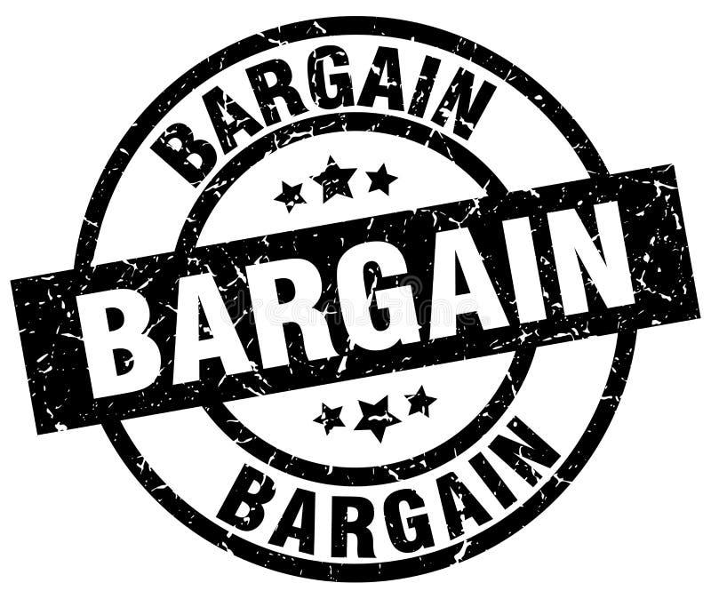Bargain stamp. Bargain grunge vintage stamp isolated on white background. bargain. sign stock illustration
