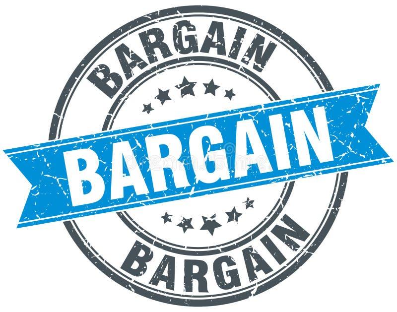 Bargain stamp. Bargain round grunge vintage ribbon stamp. bargain vector illustration