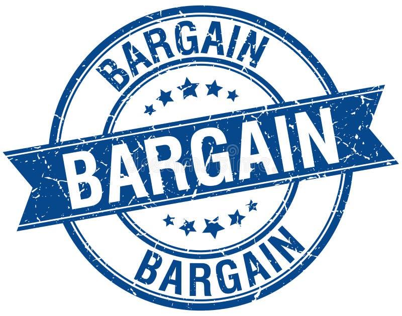 Bargain stamp. Bargain round grunge vintage ribbon stamp. bargain stock illustration