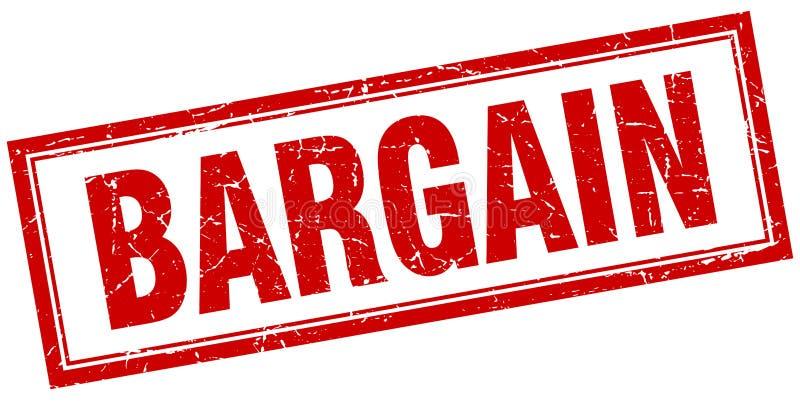 Bargain stamp. Bargain square grunge stamp. bargain sign. bargain royalty free illustration