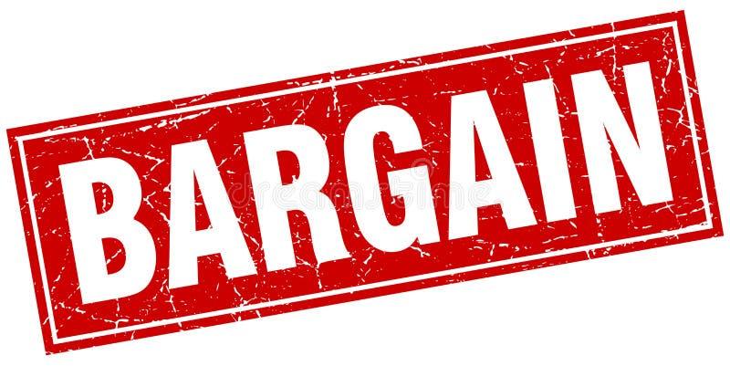 Bargain stamp. Bargain square grunge stamp. bargain sign. bargain vector illustration