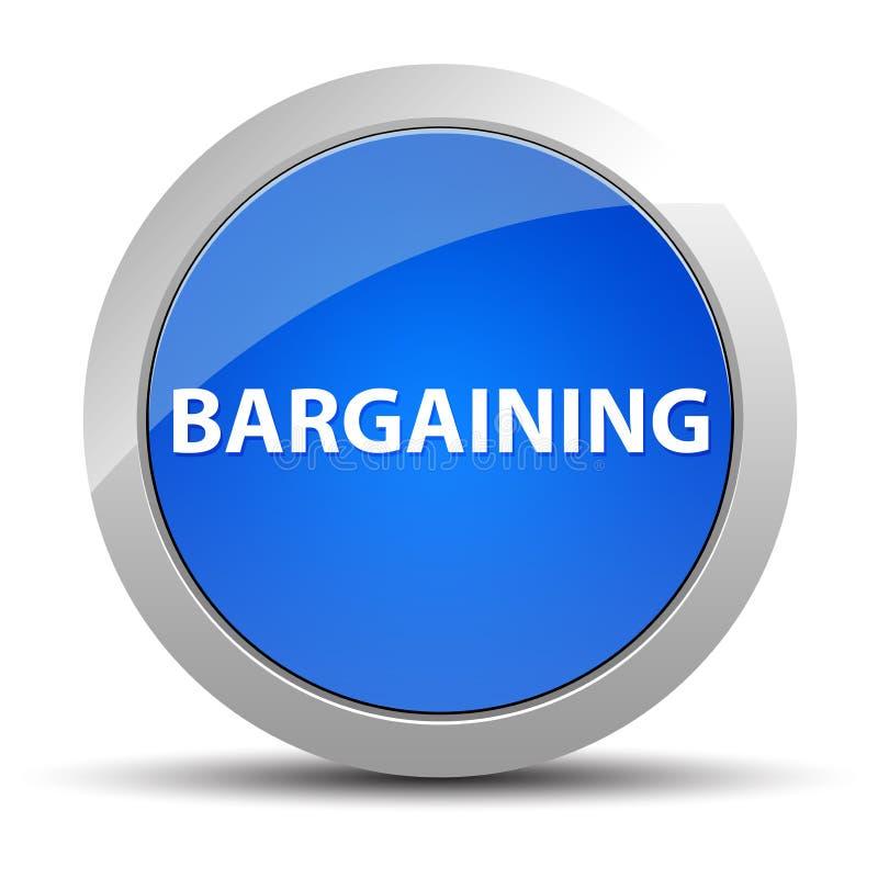 Bargaining blue round button. Bargaining Isolated on blue round button illustration stock illustration