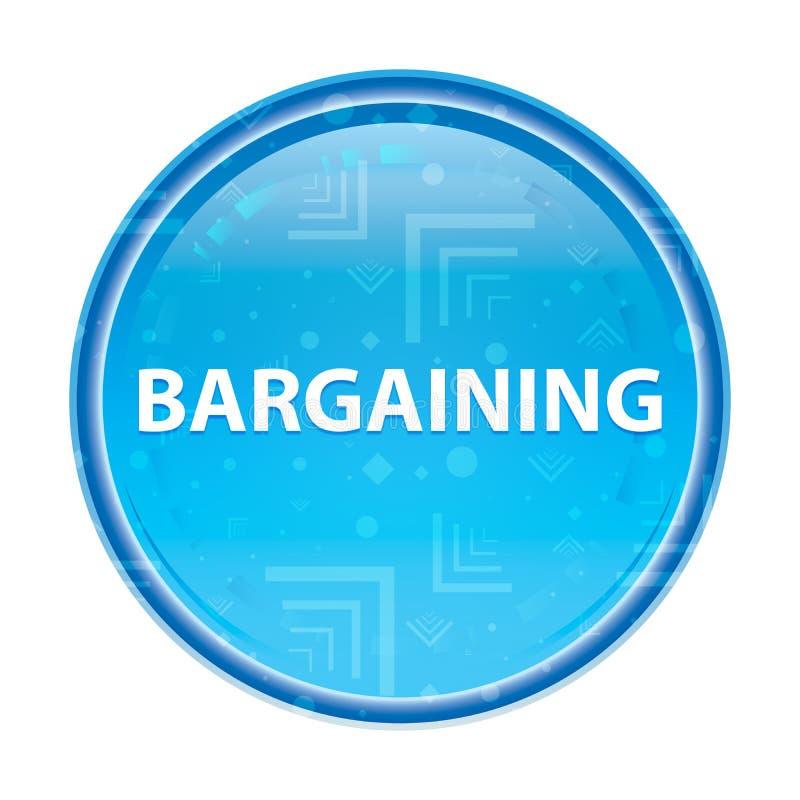 Bargaining floral blue round button. Bargaining Isolated on floral blue round button vector illustration