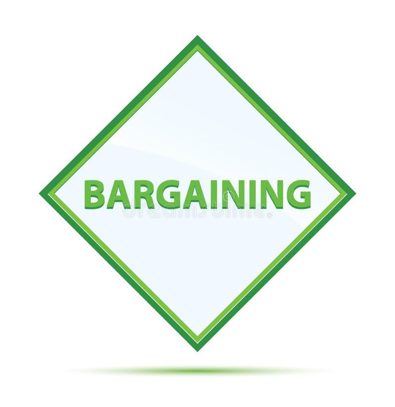 Bargaining modern abstract green diamond button. Bargaining Isolated on modern abstract green diamond button stock illustration