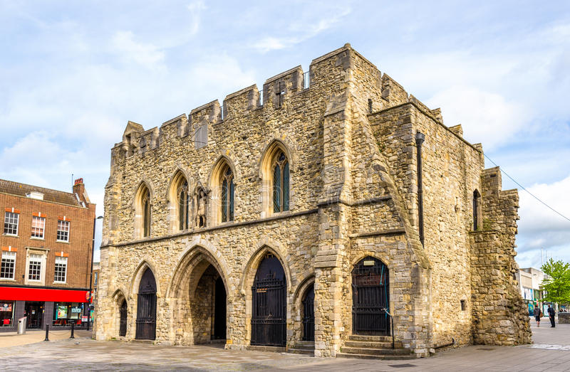 Bargate,中世纪警卫室在南安普敦 免版税库存照片