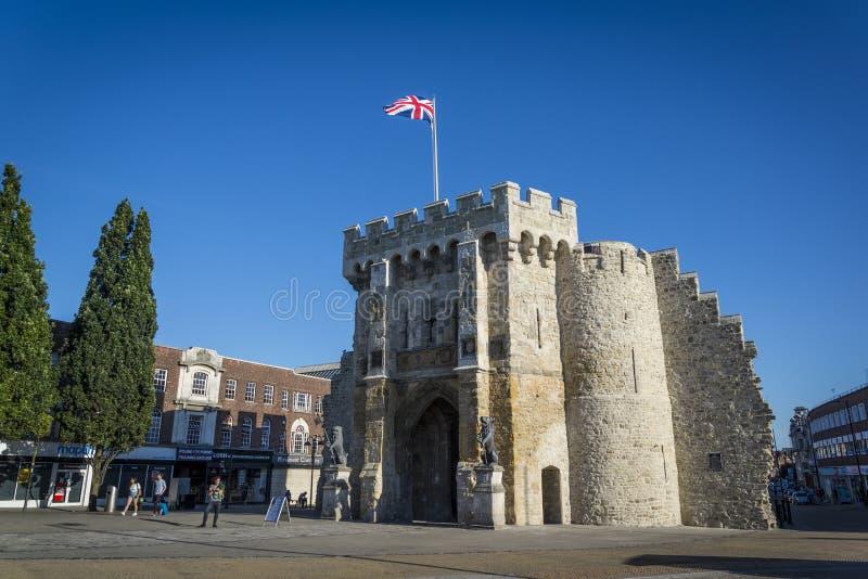 Bargate,Southampton, Hampshire, England, UK. Bargate, a Grade I listed medieval gatehouse, Southampton, Hampshire, England, UK royalty free stock photography