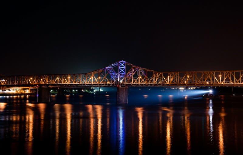 Download Night Traffic stock image. Image of barge, steel, louisville - 30139811