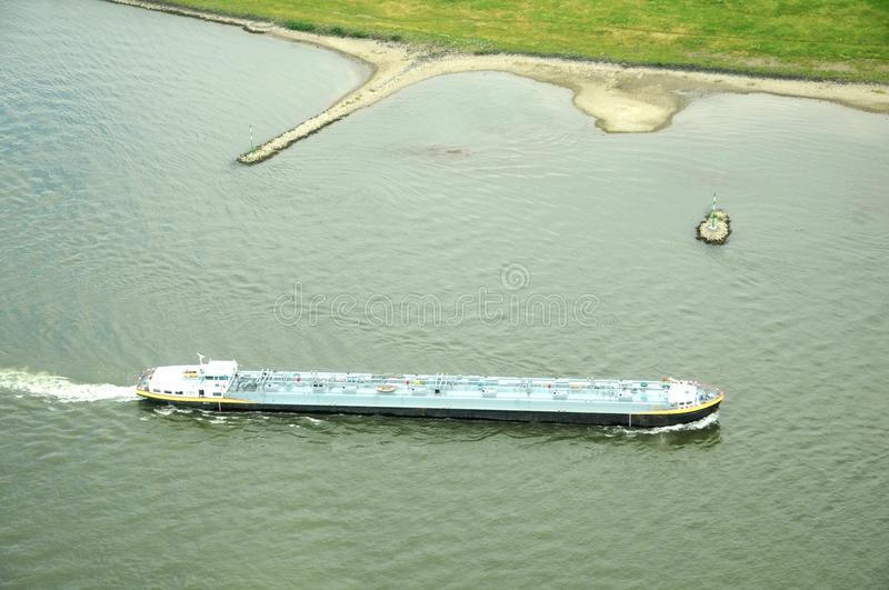 Barge at Rhin stock photography