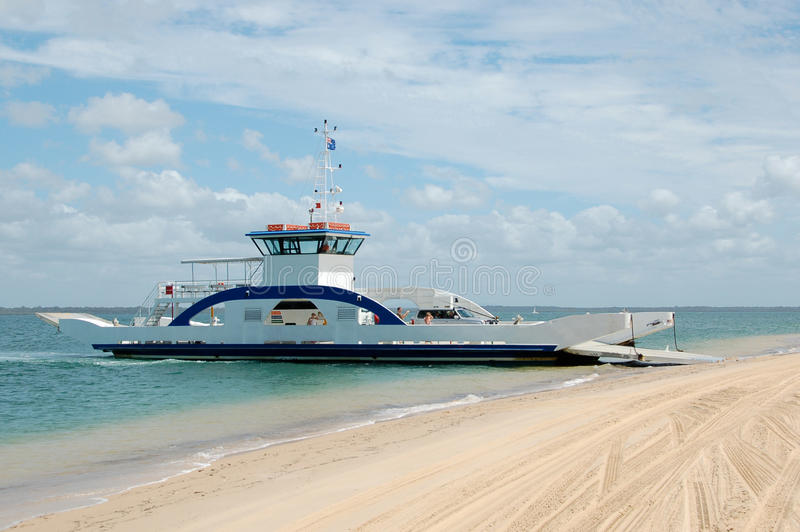 Barge to Fraser Island, Australia stock photography
