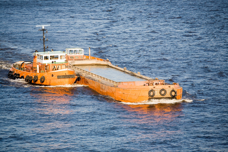 Download Barge and tug on river stock photo. Image of transport - 7197864