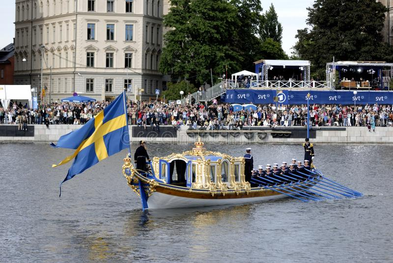 Barge Vasaorden stock photo