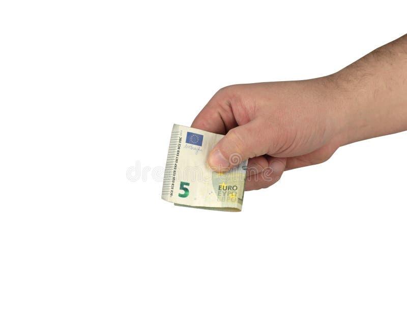 Bargeld auf der Hand lizenzfreie stockfotografie