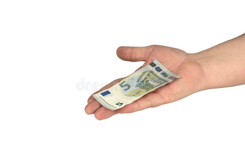 Bargeld auf der Hand lizenzfreie stockbilder