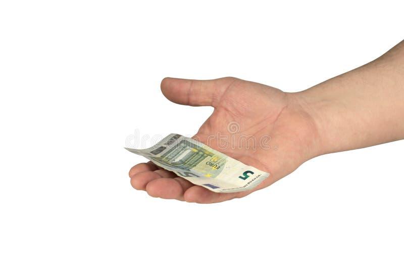 Bargeld auf der Hand stockbilder