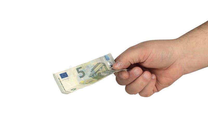 Bargeld auf der Hand lizenzfreies stockbild