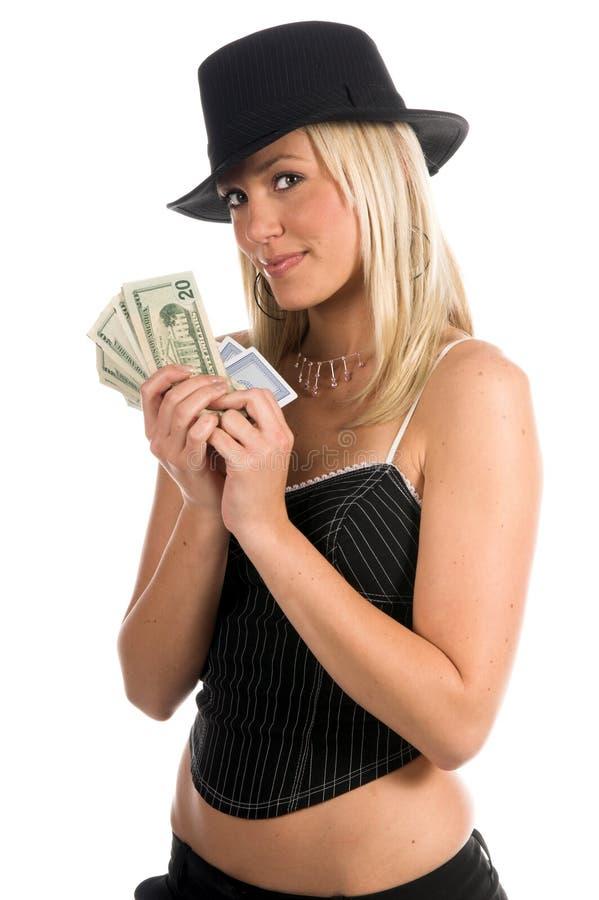 Bargeld in der Hand stockbild