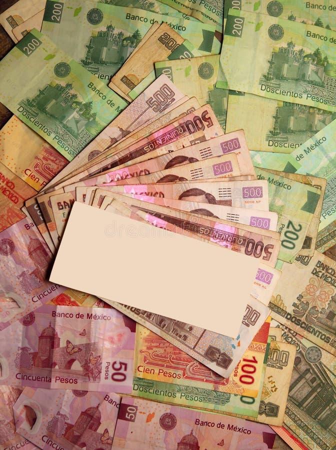 Bargeld des mexikanischen Pesos beachtet Banknoten stockbilder