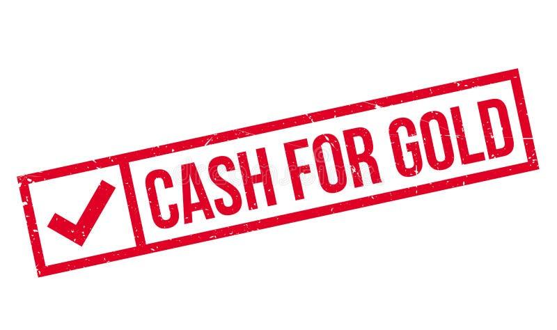 Bargeld für Goldstempel stockbild