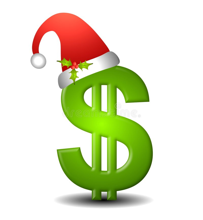 Bargeld für Weihnachten vektor abbildung