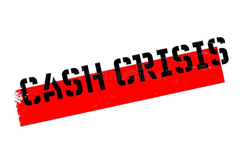 Bargeld-Krisenstempel vektor abbildung