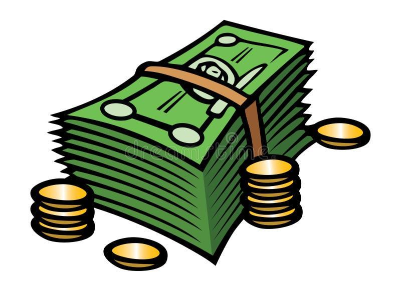 Bargeld u. Münzen lizenzfreie abbildung