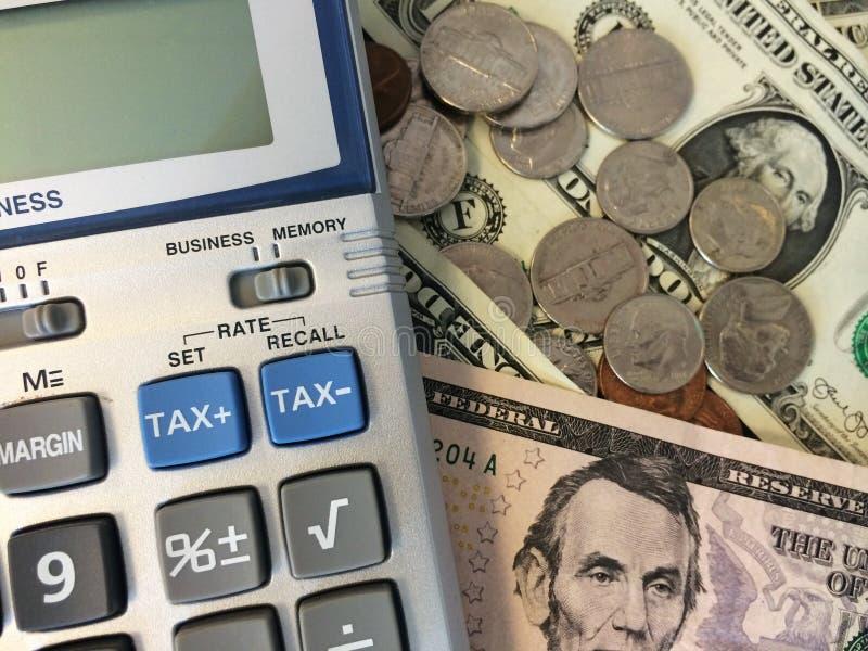 Bargeld und Taschenrechner III lizenzfreies stockfoto
