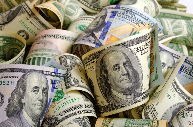 Bargeld US-Dollars lizenzfreies stockbild