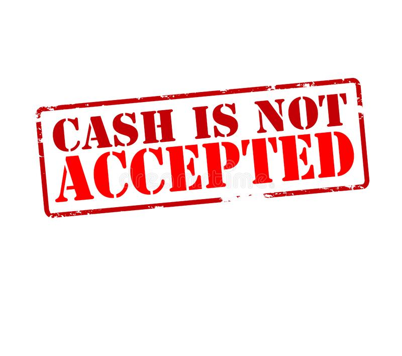 Bargeld wird nicht angenommen vektor abbildung