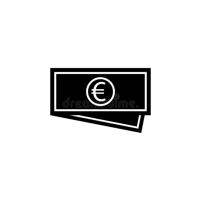 Bargeldeurogeldikone Zeichen und Symbole können für Netz, Logo, mobiler App, UI, UX verwendet werden stock abbildung
