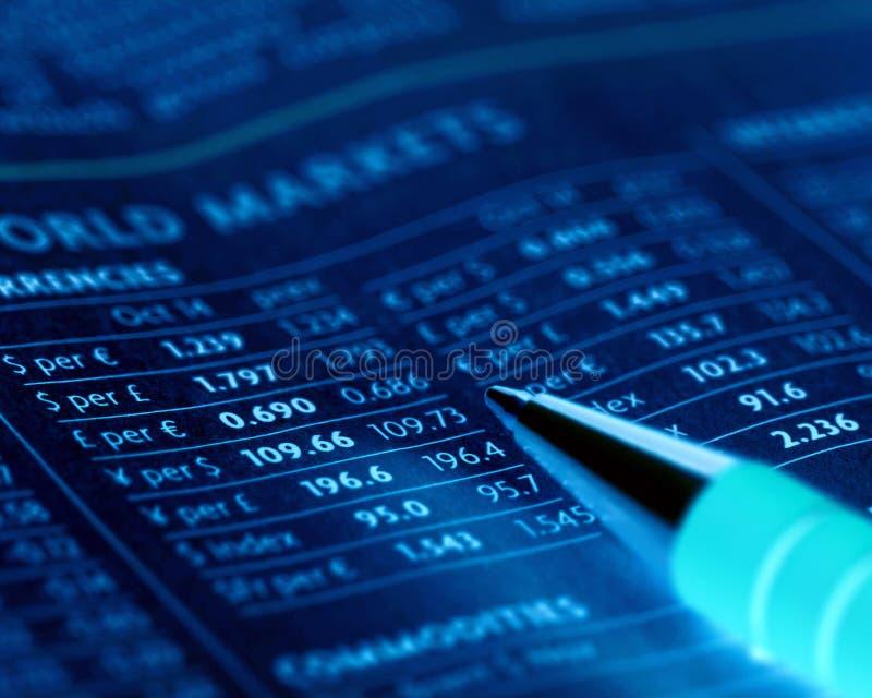 Bargeldmärkte stockbild