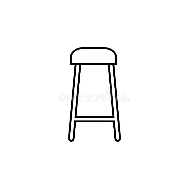Barhockerikone Element von Möbeln für bewegliche Konzept und Netz apps Dünne Linie Ikone für Websitedesign und Entwicklung, APP-E stock abbildung