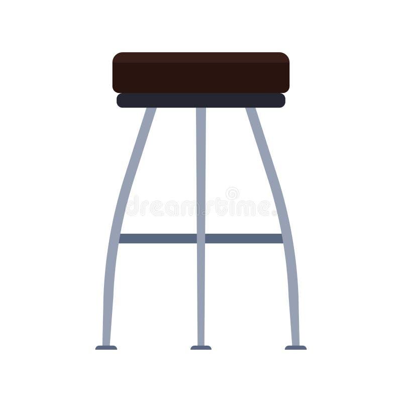 Barhockervektorikonen-Möbelentwurf Hohes Schemelcaféinnenkonzept Vereinelementcafeteria-Bistrositzen lizenzfreie abbildung