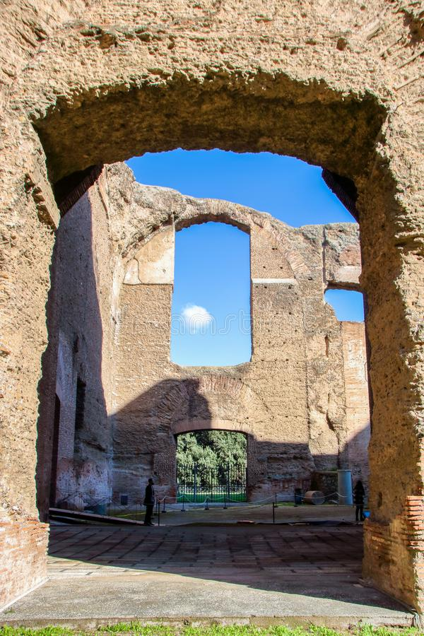 Barhs de Caracalla foto de stock