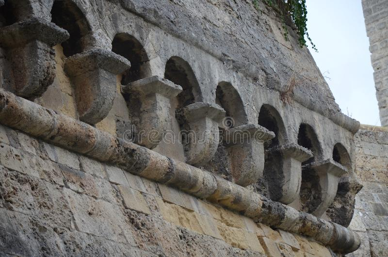 Bari Castle - gammal stadarkitektur arkivbild