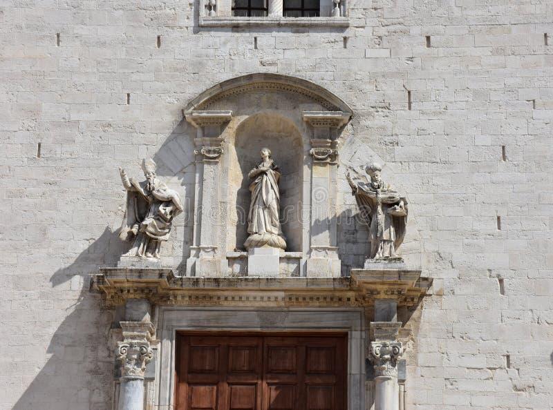 Bari, catedral imagem de stock