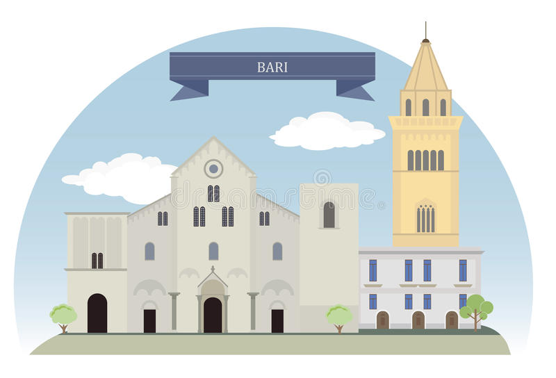 Bari, Italien vektor abbildung