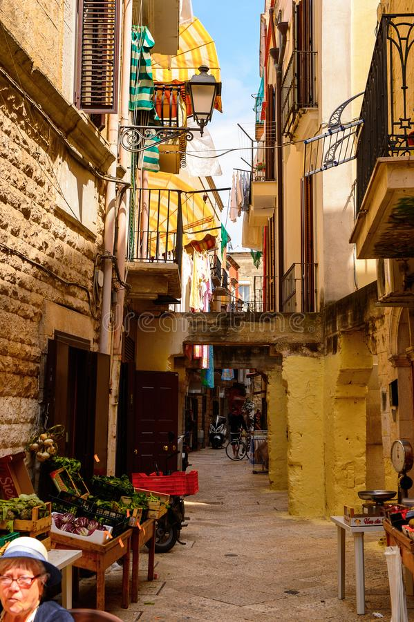 Architecture of the Old Town of Bari, Italy stock photos