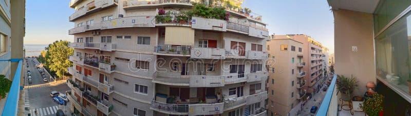 Bari, Italy: panarama 1950s mieszkania zdjęcia stock
