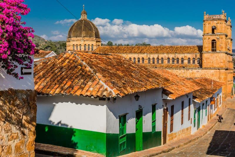 Barichara地平线都市风景桑坦德哥伦比亚 库存照片