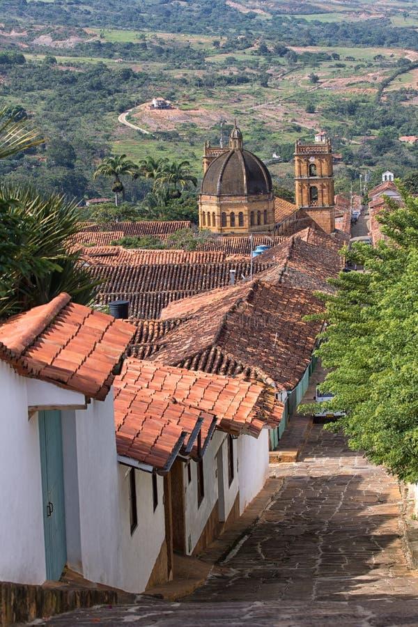 Barichara Colômbia vista de cima de fotografia de stock
