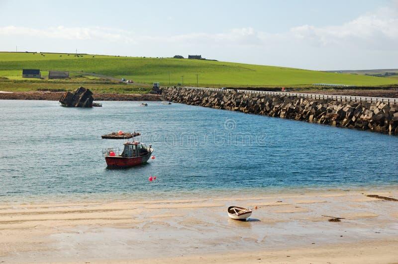 barier churchill wyspy Orkney zdjęcia royalty free