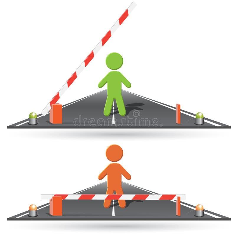 bariera ilustracja wektor
