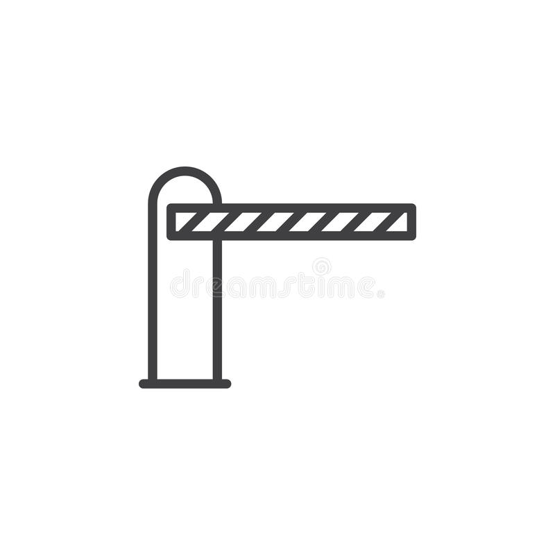 Bariera zamykał kreskową ikonę, konturu wektoru znak royalty ilustracja