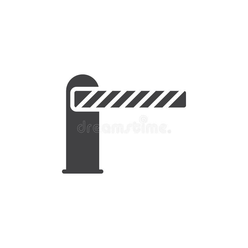 Bariera zamykający ikona wektor, wypełniający mieszkanie znak, stały piktogram odizolowywający na bielu ilustracja wektor