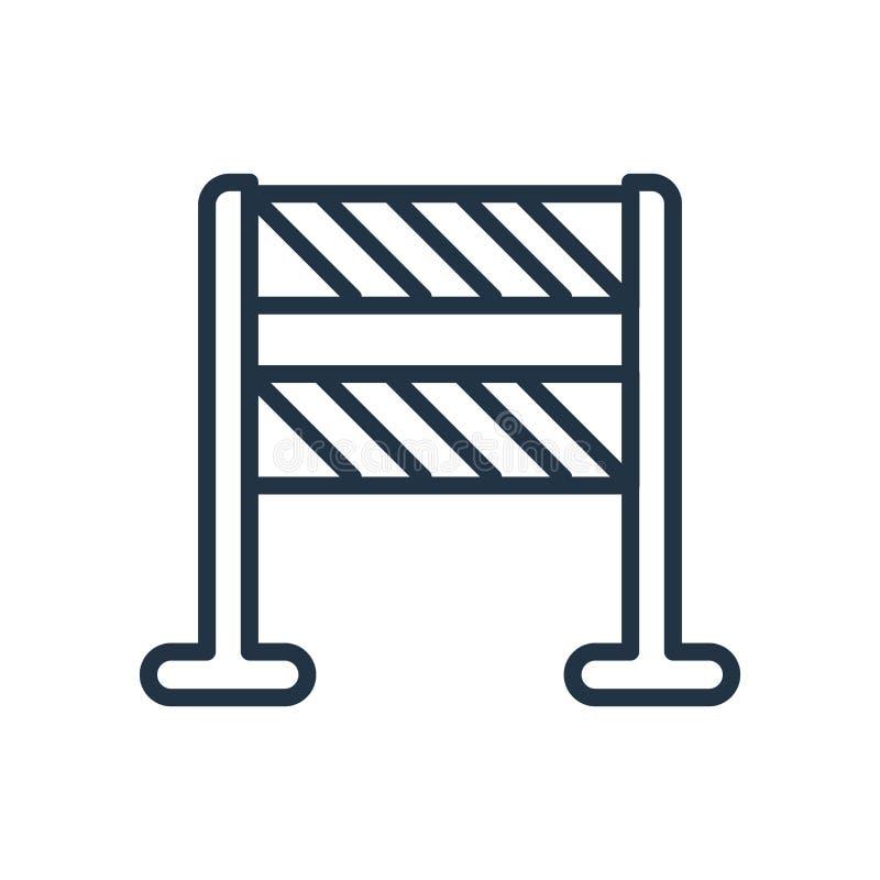 Bariery ikony wektor odizolowywający na białym tle, bariera znak royalty ilustracja