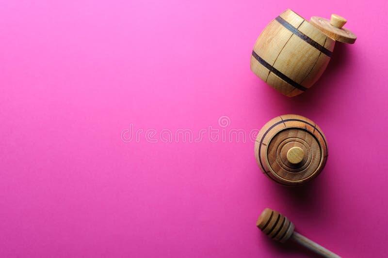 Baril avec l'espace de miel à copier photo libre de droits