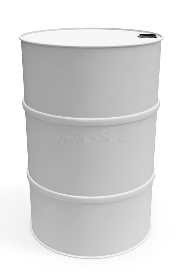 Baril blanc de plan rapproché illustration stock